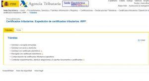 certificado renta