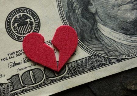 Disposición de dinero ganancial poco antes del divorcio
