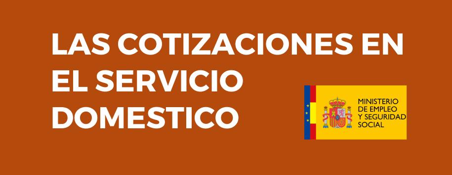 cotizaciones en el servicio domestico
