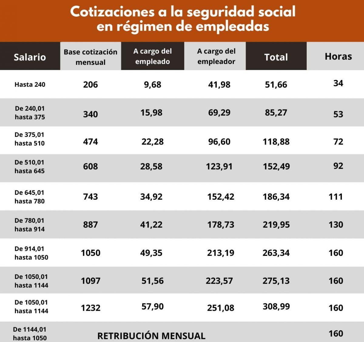 LAS COTIZACIONES EN EL SERVICIO DOMÉSTICO